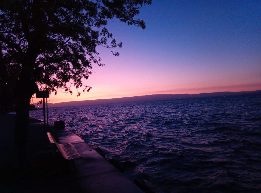 Fine della prima tappa sul lago
